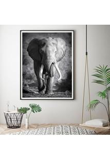 Quadro Com Moldura Chanfrada Elefante 80X120