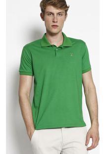 Polo Lisa Com Bordado- Verdeclub Polo Collection