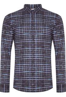 Camisa Masculina Xadrez Color - Preto