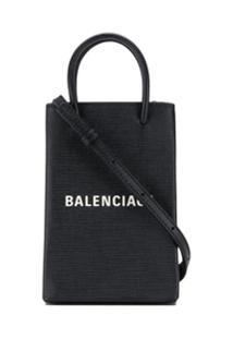 Balenciaga Bolsa Shopping Para Celular - Preto