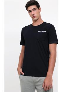 Camiseta Com Bordado Quem Never?