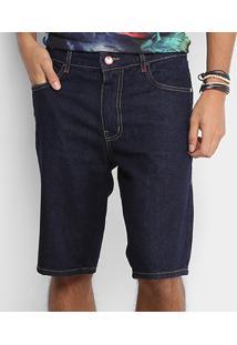 Bermuda Jeans Coca-Cola Comfort Escura Masculina - Masculino-Azul Escuro