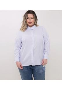 Camisa Com Listras Curve & Plus Size