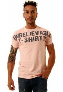 Camiseta Oitavo Ato Unbelievable Masculina - Masculino-Rosa