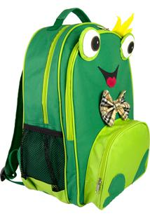 Mochila Escolar Sapinho Mumagi Verde
