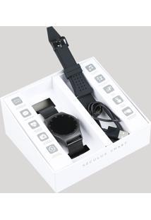 Relógio Seculus Smart Visor Touch Masculino Troca Pulseira - 79001Mpsvpi1 Preto - Único
