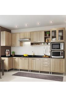 Cozinha Completa 15 Portas 3 Gavetas Com Tampo Sicilia 5831 Premium Argila - Multimóveis