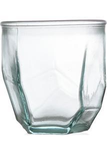 Vaso Em Vidro Transparente Origami 300Ml