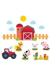 Adesivo De Parede Infantil Fazenda Feliz