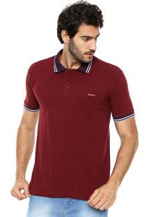 Camisa Polo Sommer Detalhe Vinho