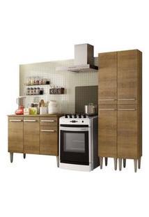 Cozinha Compacta Madesa Emilly Front Com Balcão E Paneleiro Rustic
