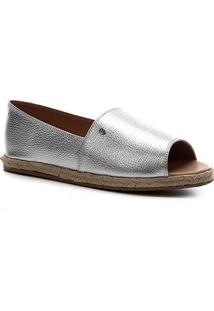 Sapatilha Couro Shoestock Confort Feminina - Feminino-Prata