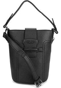 Bolsa Colcci Mini Bag Balde Passante Feminina - Feminino-Preto