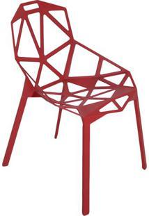 Cadeira One- Vermelha- 81X57X55Cm- Falkkfalkk