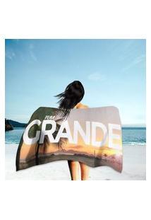 Toalha De Praia / Banho Praia Grande Único