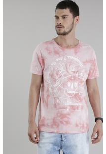 "Camiseta Tie Dye ""Funk You"" Coral"