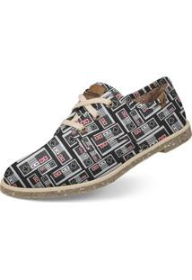 Oxford Usthemp Legend Vegano Casual Estampa Nes Cinza