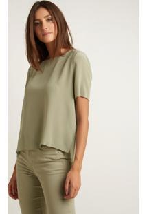 Blusa Le Lis Blanc Mica 1 Seda Verde Feminina (Bamboo 16-6008Tcx, Gg)