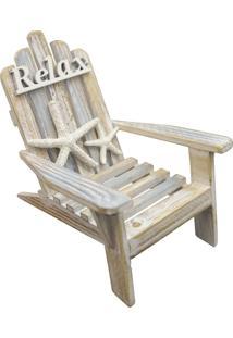 Enfeite De Madeira Cadeira Relax Kasa Ideia