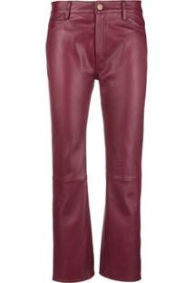 Mih Jeans Daily Cropped Trousers - Vermelho