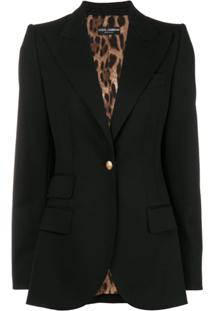 Dolce & Gabbana Blazer Liso - Preto