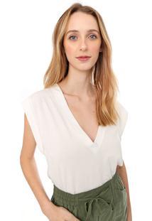 Camiseta Colcci Lisa Off-White