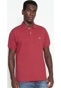 Polo Classic Fit Com Bordado- Vermelha & Verdelacoste