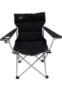 Cadeira Dobrável Boni Com Porta Copo - Nautika-Preta