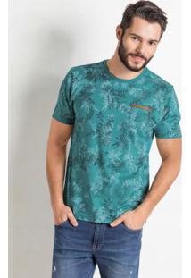 Camiseta Com Decore Redondo Verde Miss Masy