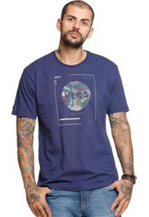 Camiseta Manga Curta Vlcs 18502 Masculina - Masculino-Azul