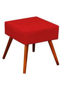 Puff Decorativo Lyam Decor Lívia Suede Vermelho