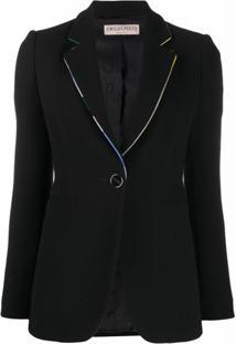 Emilio Pucci Blazer Com Abotoamento Simples - Preto