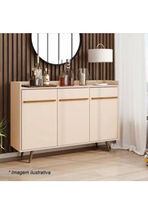 Aparador Buffet Quartzo- Off White- 97X135X37Cm-Bechara