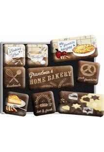 Imãs Home Bakery 9 Peças Nostalgic Art