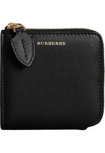Burberry Carteira De Couro - Preto