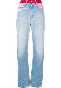 ... Calvin Klein Jeans Calça Jeans Reta - Azul f932232e240