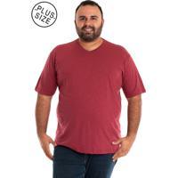 7f586b2eb6 Camiseta Decote V Marsala masculina