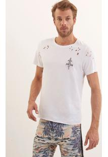Camiseta John John Rg Little Blade Malha Branco Masculina Tshirt Rg Little Blade-Branco-G