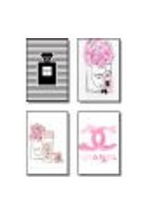Quadros Decorativos Chanel 4 Peças