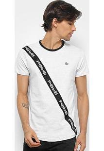 Camiseta Polo Rg 518 Swag Faixa Masculina - Masculino-Branco