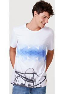 Camiseta Masculina Manga Curta Com Estampa Digital