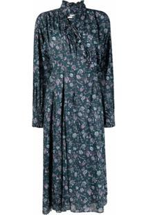 Isabel Marant Étoile Floral Print Midi Dress - Verde