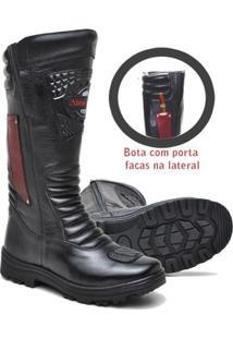 Bota Atron Shoes Bombeiro Cano Alto Couro - Masculino
