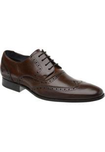 Sapato Social Couro Oxford Malbork Masculino - Masculino-Marrom