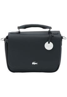 Bolsa Texturizada Com Tag- Preta- 19X25X8Cm- Laclacoste