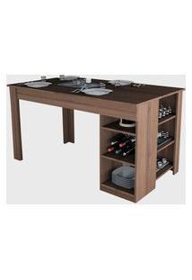 Mesa Para Cozinha Enjoy Nogueira Appunto