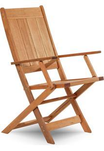 Cadeira Dobrável Com Braços Acqualung ? Mão E Formão - Jatobá