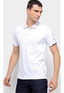 Camisa Polo Calvin Klein Masculina - Masculino-Branco