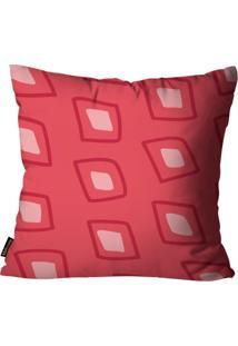 Capa Para Almofada Mdecore Natal Geométrica Vermelha 45X45Cm