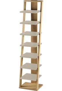 Prateleira Suspensa Stairway 1132 Palha/Marrom Claro - Maxima